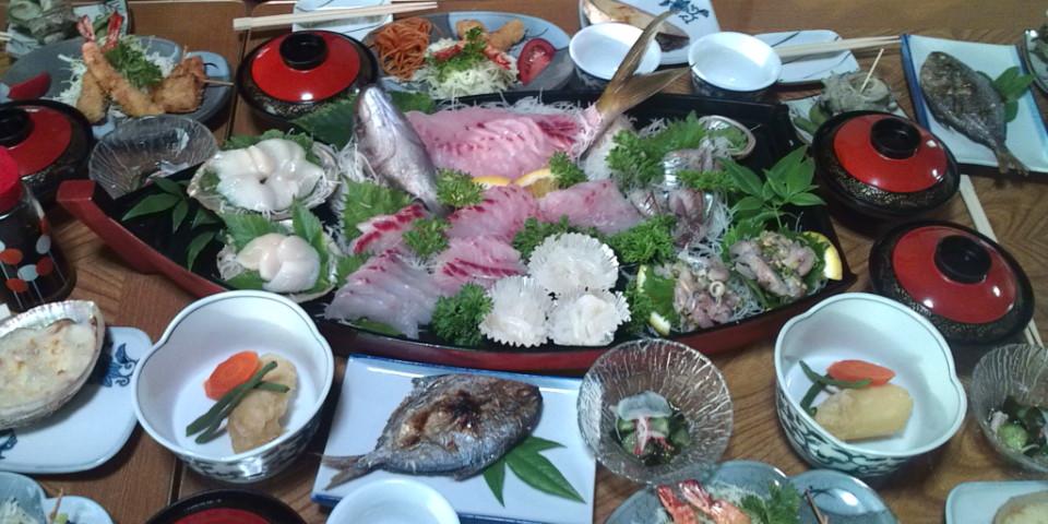 伊豆民宿の晩御飯大好き